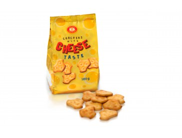 Crackers with cheese taste