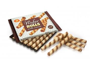 Вафельные трубочки с какао